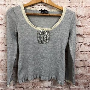 🤭Nic & Mo Large Wool Sweater Ruffle